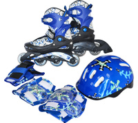 PW-780 Набор: коньки ролик, защита, шлем р. 26-29