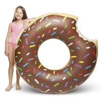 Надувной круг BigMouth Donut, шоколадный