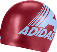 Шапочка для плавания Adidas Retro Graphic Cap, DY5181, бордовый