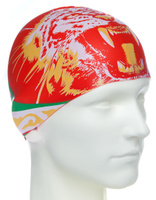 Шапочка для плавания MadWave Tatarstan, M0553 06 0 00W, оранжевый, красный
