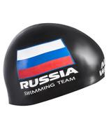 Шапочка для плавания MadWave Swimming Team, M0558 18 0 01W, черный
