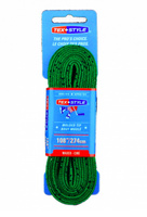 "Шнурки с пропиткой Texstyle Coloured Lace Waxed Finish And Molded Tip 108"" (274 см.), Зеленый"