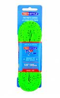 "Шнурки с пропиткой Texstyle Coloured Lace Waxed Finish And Molded Tip 96"" (244 см.), Ярко-зеленый"
