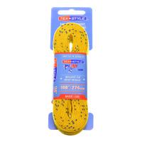 "Шнурки с пропиткой Texstyle Yellow Double Blue Line Waxed Extra Wide Molded Tip 108"" (274 см.), Желтый"