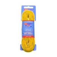 "Шнурки с пропиткой Texstyle Yellow Double Blue Line Waxed Extra Wide Molded Tip 120"" (305 см.), Желтый"