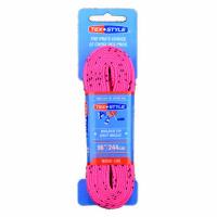 "Шнурки с пропиткой Texstyle Coloured Lace Waxed Finish And Molded Tip 96"" (244 см.), Ярко-розовый"