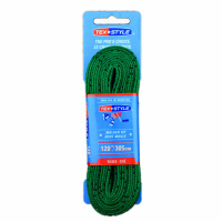 "Шнурки с пропиткой Texstyle Coloured Lace Waxed Finish And Molded Tip 120"" (305 см.), Зеленый"