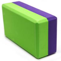 Блок для йоги полумягкий 2-х цветный 223х150х76мм., из вспененного ЭВА B26353