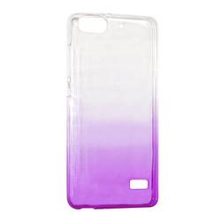 Чехол для сотового телефона IQ Format Huawei 4C, силикон, фиолетовый. Лучшая цена