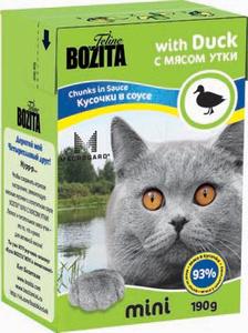 Купить Консервы для кошек Bozita mini, мясные кусочки в соусе, с мясом утки, 190 г