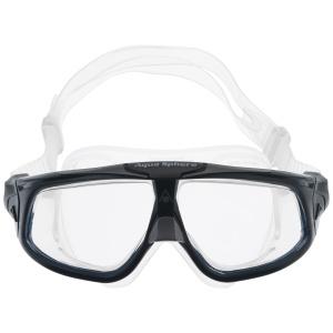 Купить Очки для плавания Aqua Sphere Seal 2.0, цвет: черный, серебристый