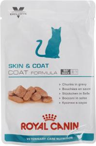 Купить Консервы Royal Canin Skin & Coat для кастрированных котов и стерилизованных кошек с длинной шерстью, 100 г