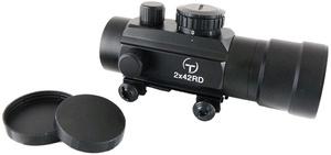 Купить Прицел коллиматорный Target Optic 2х42, закрытый на Weaver, марка - точка