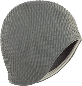 Купить Шапочка для плавания Larsen Бабл-кап, цвет: серый