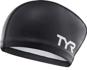 Купить Шапочка для плавания Tyr Long Hair Silicone Comfort Swim Cap, цвет: черный. LSCCAPLH