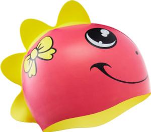 Купить Шапочка для плавания детская Tyr CharacTyrs Dino Diva Cap, цвет: розовый, желтый. LCSGDNO