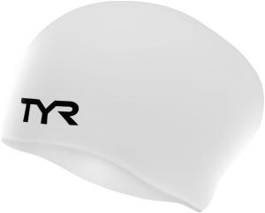 Купить Шапочка для плавания Tyr Long Hair Wrinkle-Free Silicone Cap, цвет: белый. LCSL