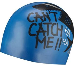 Купить Шапочка для плавания Adidas Graphic Cap Y, цвет: синий, черный