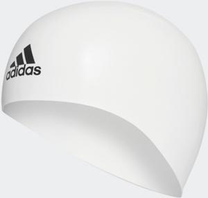 Купить Шапочка для плавания Adidas Silicone 3D Cap, цвет: белый. Размер M