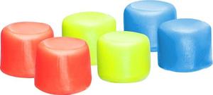 Купить Беруши для бассейна TYR Youth Multi-Colored Silicone Ear Plugs, цвет: мультиколор, 6 шт. LEPY970