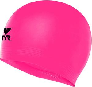 Купить Шапочка для плавания TYR Latex Swim Cap, цвет: розовый