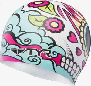 Купить Шапочка плавательная TYR Vengadora Silicone Cap, LCSVEN, разноцветный