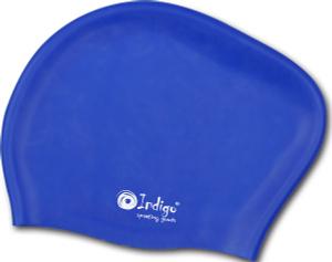 Купить Шапочка для плавания Indigo Silicone, для длинных волос, цвет: синий