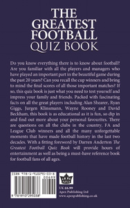 The Greatest Football Quiz Boo ...