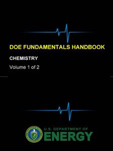 DOE Fundamentals Handbook - Chemistry (Volume 1 of 2)