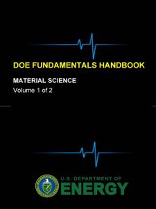 DOE Fundamentals Handbook - Material Science (Volume 1 of 2)