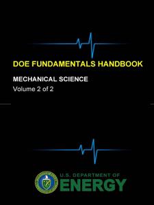 DOE Fundamentals Handbook - Mechanical Science (Volume 2 of 2)