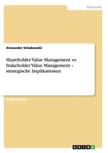 Shareholder Value Management  ...