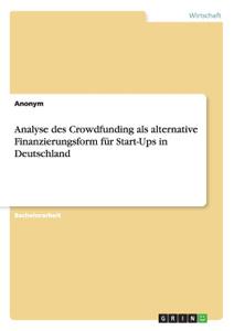 Analyse des Crowdfunding als  ...