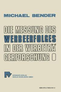 Die Messung Des Werbeerfolges  ...
