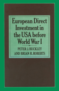 European Direct Investment in  ...