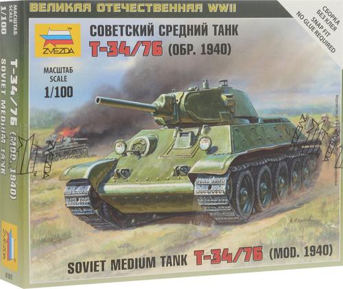 392d99c13 Звезда Сборная модель Советский средний танк Т-34/76 образца 1940 г — купить  в интернет-магазине OZON с быстрой доставкой