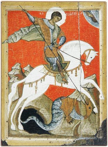 Икона Святой Георгий Победоносец — купить в интернет-магазине OZON с  быстрой доставкой