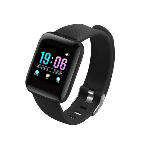 Купить фитнес-браслет D13, черный по низкой цене: отзывы, фото,  характеристики в интернет-магазине Ozon