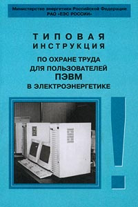 Обложка книги Типовая инструкция по охране труда для пользователей ПЭВМ в электроэнергетике,