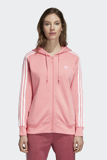 adidas 3str w hooded zipper pink