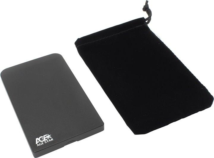 "Корпус для жесткого диска AgeStar 3UB2O1 USB3.0 to 2.5""hdd SATA, Black"