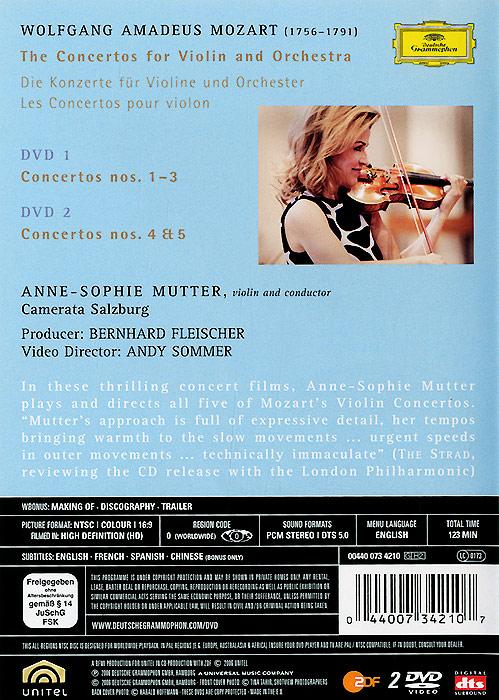 Anne-Sophie Mutter: Mozart The Violin Concertos (2 DVD) . ...