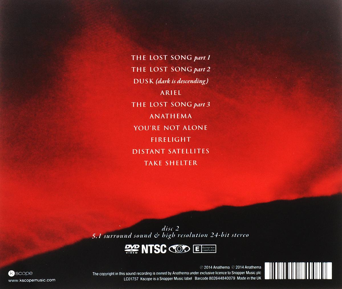 Anathema. Distant Satellites (CD + DVD) DVD 1: 01. The Lost Song Part 1 02. The Lost Song Part 2 03. Dusk...