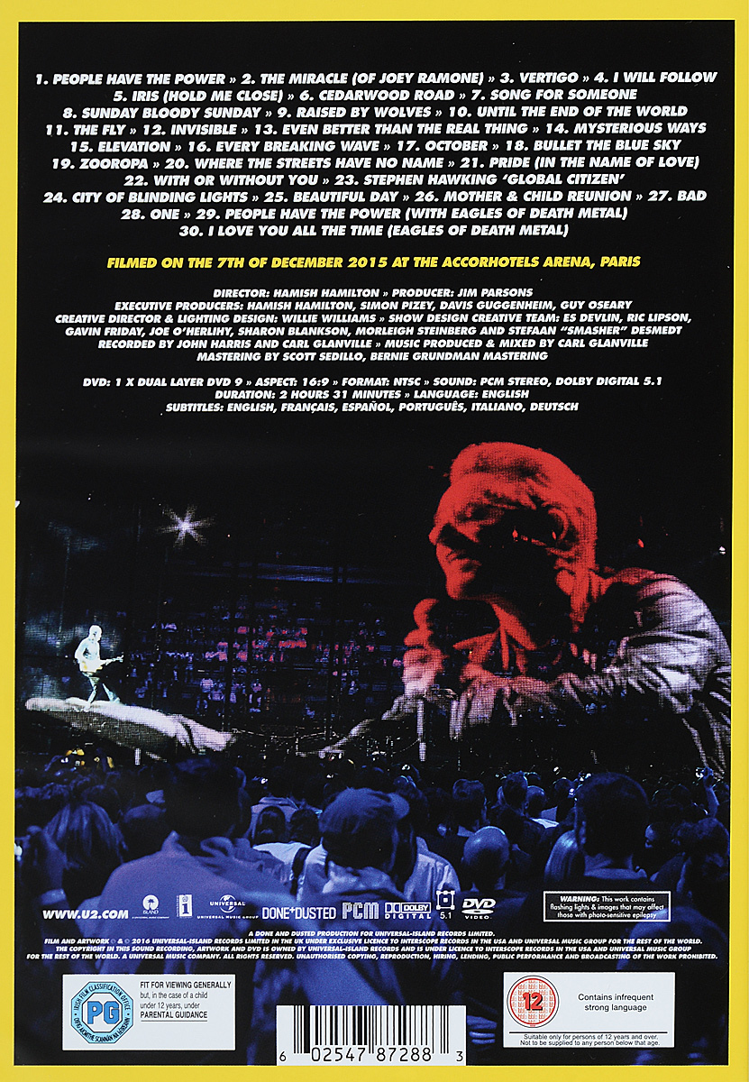 U2 Innocence: Experience: Live In Paris Содержание: 01. People Have The Power 02. Miracle...
