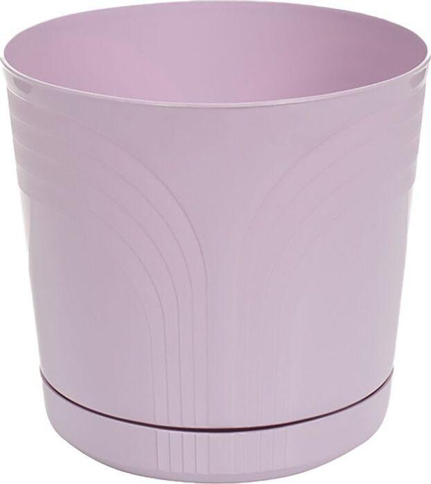 Горшок для цветов Korad, с поддоном, K314, диаметр 24 см горшок с поддоном d13см h12см стекло розовый