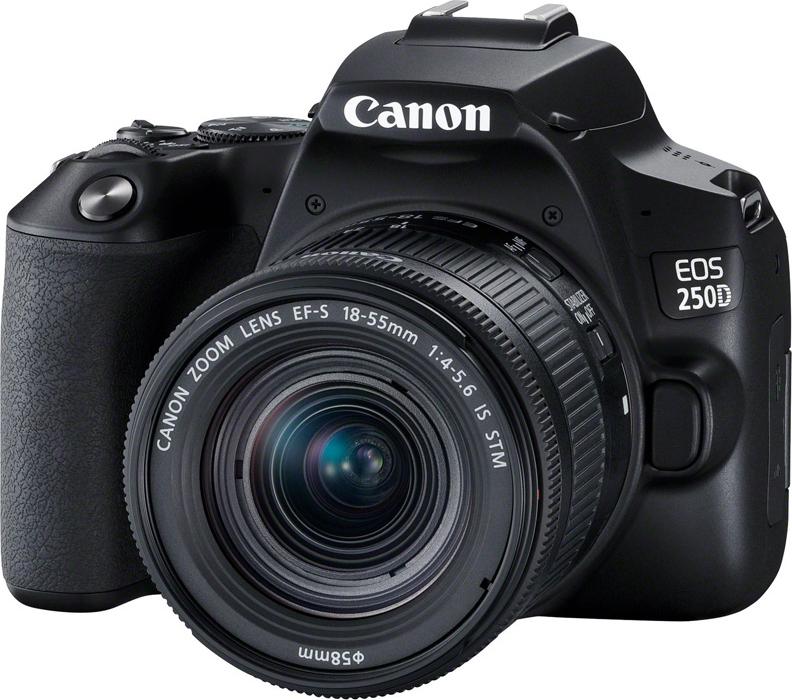 Зеркальная фотокамера Canon EOS250DKit18-55ISSTM, черный