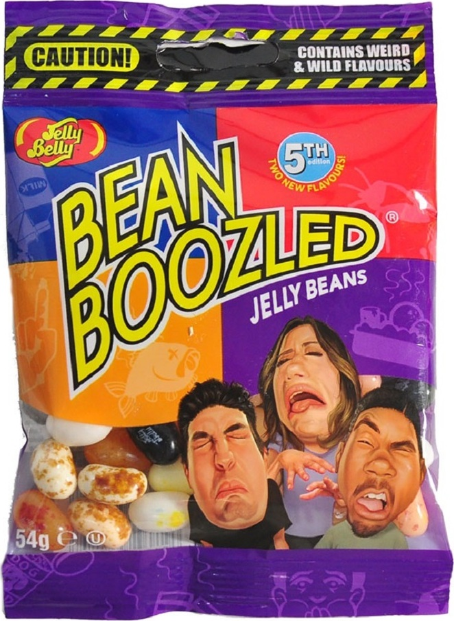Конфеты Jelly Belly Bean Boozled Бин Бузлд с разными вкусами (мягкая упаковка) 5 версия, 54 гр клавиатура jelly bean