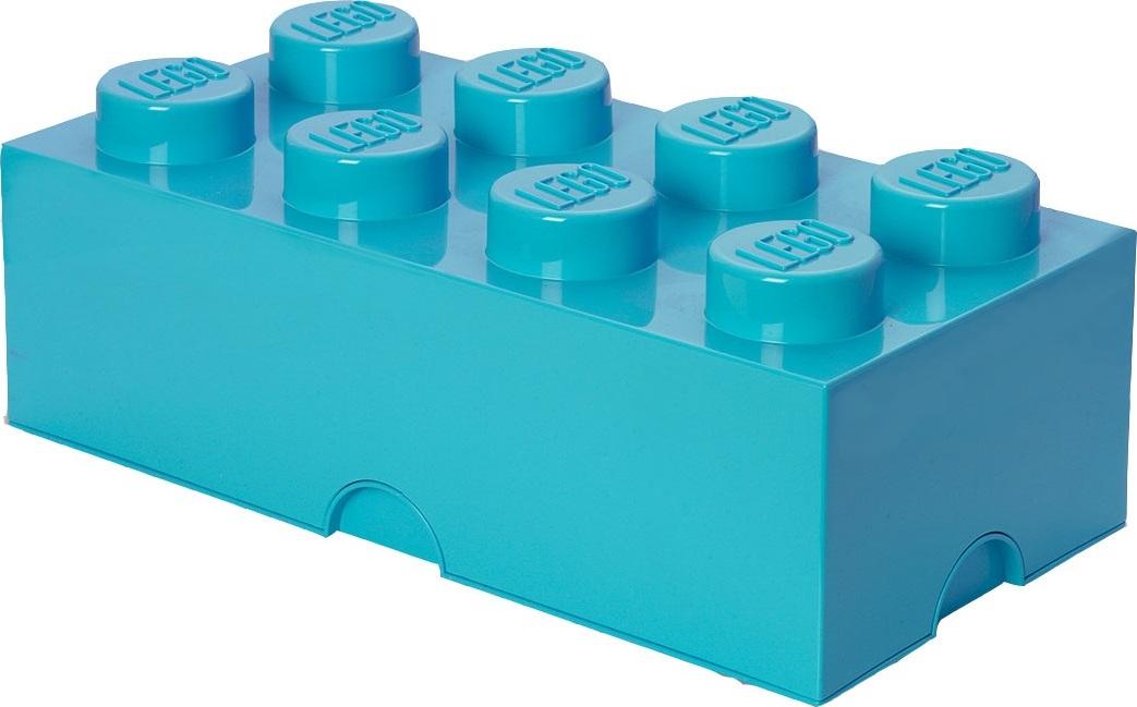 Ящик для хранения 8 LEGO ярко-бирюзовый