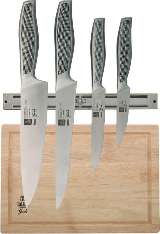 Набор ножей TalleR TR-2002 4 предмета + магнитный держатель + разделочная доска