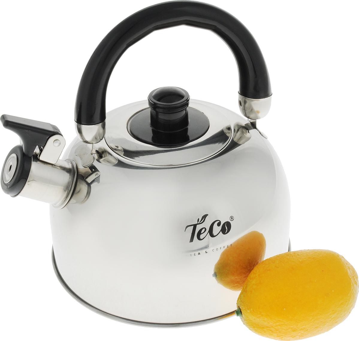 Чайник TECO, 2,0 л, со свистком, нержавеющая сталь